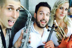 with Renato Marquez (Violin) &  Lady Trumpet