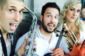 with Renato Marquez (Violin) &  Lady Trumpet